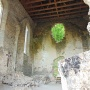 A templomhajó a rózsaablak helyével