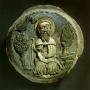 A budaszentlőrinci egykori pálos főmonostor megmaradt záróköve Remete Szent Pál képével – Budapesti Történeti Múzeum