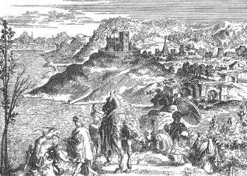 BUDA vetus sive Alt-Offen nunc in Ruderibus. (Tollius, Jacobus: Epistolae itinerariae… Amstaedanum, 1700.)