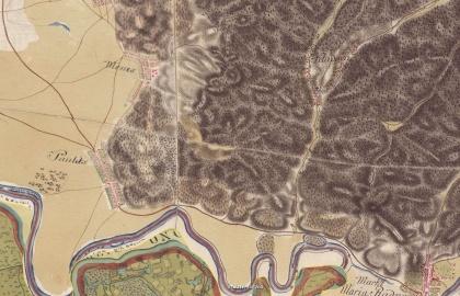 Kalodva és környéke az első katonai felmérés térképén 1773-1781 (mapire.eu)
