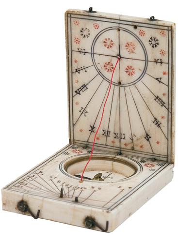 Kézi napóra 1640-ből (Fotó: Bartha Lajos: Reneszánsz csillagászati műszerek Magyarországon)