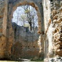 A dédesi kolostor romja tavasszal