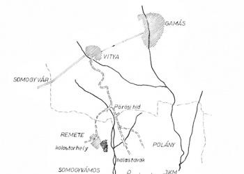 Vitya-Remetepuszta helyszínrajza (Guzsik Tamás: Eltűntnek hitt pálos építészet Somogy megyében)
