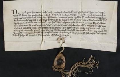 Rohocha-i István fia Gergely mester adománylevele 1420-ból (Forrás: davt.hr)