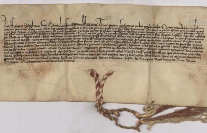 Gordoua-i Ffancz Bertalan fia István a Bakwa-i pálos-kolostornak adományoz három jobbágytelket 1448-ban (Forrás: davt.hr)