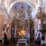 A templom, az oltár közepén a Fekete Madonna másolatával (Fotó: kroatien-lexikon.de)