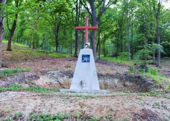 A hangonyi Pálos rendi kolostor helyén álló emlékmű (Fotó: Farkas Gergely)