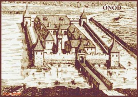 Az ónodi vár egy régi rajzon (Forrás: latvany-terkep.hu)