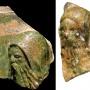 Kályhacsempék darabjai a budaszentlőrinci kolostorból (Forrás: Pálosaink a fehér barátok, kiállítási katalógus)