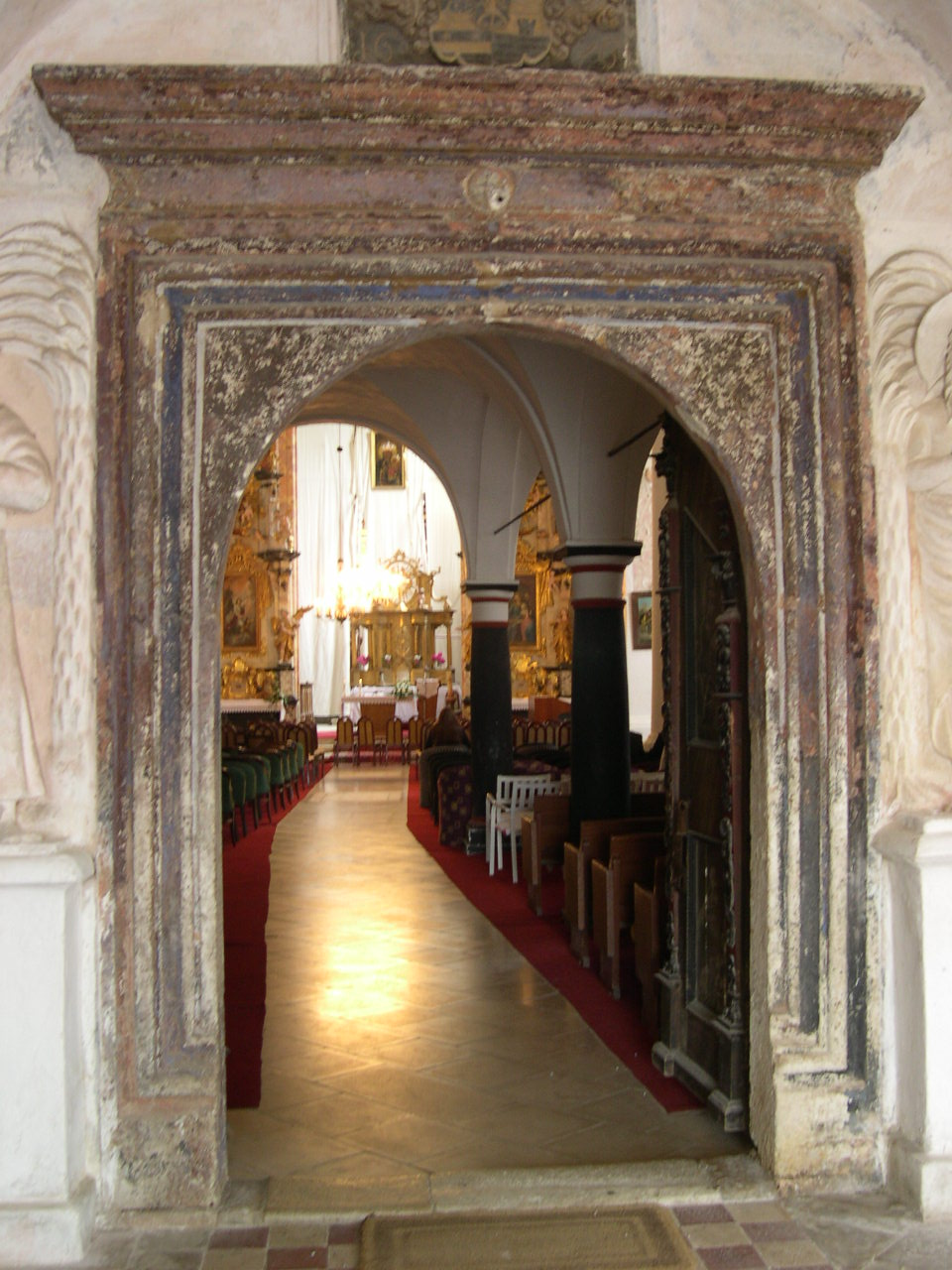 A lepoglavai pálos templom bejárata