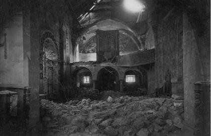 A templom a földrengés után (Forrás: Dragan DAMJANOVIĆ)