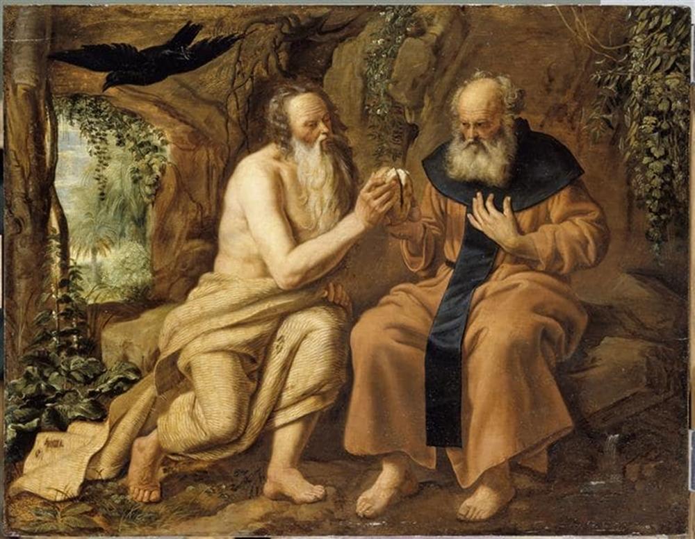 Remete Szent Antal és Remete Szent Pál (Forrás: bernardinai.lt)